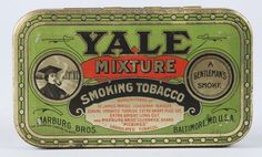 yale mixture tin #victorian #tin #vintage #tobacco