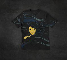 Raven girl #design #tshirt #raven #girl