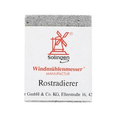 Windmuehlenmesser Rust Eraser #packaging #logo #line #red