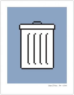 TRASH | Susan Kare Prints #apple #icons #poster