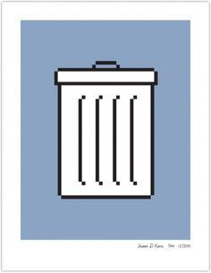 TRASH | Susan Kare Prints #apple #icons #poster