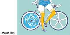 Ride So Fly par Raccoon Noo #affiche #vlo #artcrank #illustration #poster #bike #show #art