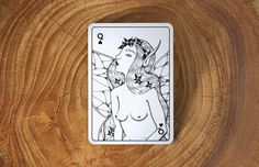 From design team, Dual Originals, comes a completely hand-drawn deck of playing cards based on mythical creatures and ancient gods. #design #playing #illustration #creatures #cards #mythical