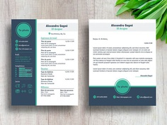 Gagne Resume - Free Modern Resume Template with Cover Letter Page