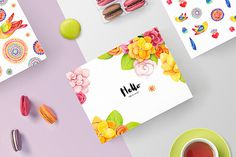 "Brand Identity & Packagings. ""Life is sweet"" is a concept idea for a bakery that specializes in macaroon."