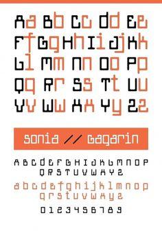 Novo Typo - Gagarin Sonia - Type specimen #novo #design #typeface #typo #typography
