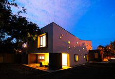 Modern Inspiring House Integrating Colourful Lights in Timisoara, Romania #architecture #modern