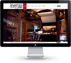 Inertia Sound Studio. Site by Paul Allan #allan #design #studio #webdesign #music #web #paul