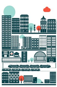 Illustration by Robert Samuel Hanson #city #illustration #vector