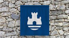 Coat of arms of Belgrade (Serbia) on Behance by Vladan Pavlović #flag #Serbia #Belgrade #Coatofarms #Blue #castle #river #flag #Serbia #Bel