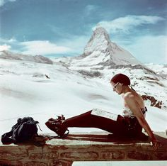 robert capa ski photographs exhibition.sw.6.robert capa show icp ss02 #switzerland #photography #vintage #film #matterhorn