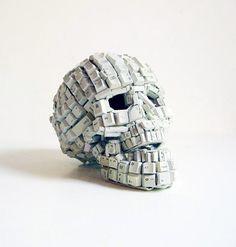 this isn't happiness™ (Maurice Mbikayi)#skull #keyboard