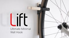 Lift is the beautifully minimal multi-use bike hook. #design #cycling