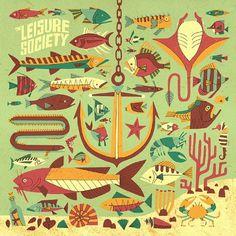 Leisure Society - Owen Davey Illustration #illustration