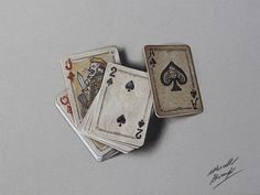 Realistic Color Drawings of Everyday Objects by Marcello Barenghi #cards #realism