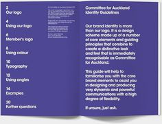 Committee for Auckland Brand Identity by Everything Design; a Branding & Graphic Design Company Auckland New Zealand. Everything Design.