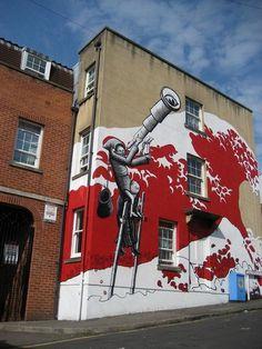 Amazing street art #surrealism #abstract art #street art #surreal street art