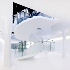 Dezeen » Blog Archive » Drents Museum by Erick van Egeraat #staircase #erick #white #museum #drents #van #egeraat #spiral #architecture