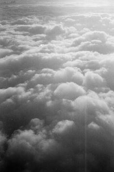 clouds / 35mm bw film