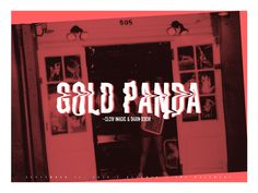 Gold Panda #concertposter #poster #concert #show #goldpanda