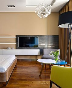 Chic Moscow Studio chic moscow studio interior #interior #small #design #decor #appartment