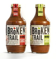 Broken Trail BBQ Sauce #packaging