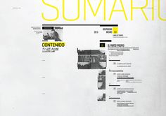 Contents Page #negative #yellow #space #grid #minimal