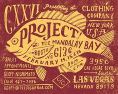 CXXVI Clothing Co. Jon Contino, Alphastructaesthetitologist #type #fish #handcrafted #poster