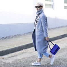 How to Wear Sneakers in the Winter #fashion #woman #style