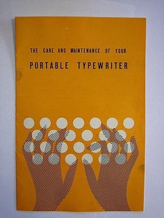 FFFFOUND! | typewriter manual | Flickr - Photo Sharing! #cover #illustration #typewriter #manual