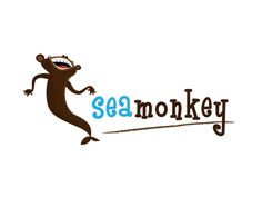 Sea Monkey #mascot #monkey #illustration #sea #character