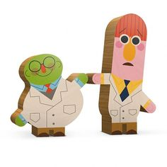 Andrew Kolb Immortalizes Pop Culture Duos With Wooden Figures [Art] - ComicsAlliance   Comic book culture, news, humor, commentary, and reviews #wood #illustration #illus