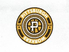 Basketball #logo #pittsburgh #badge #workers
