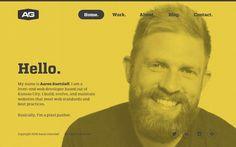 Minimalny Inspiration N° 9 #webdesign #minimaldesign #portfolio