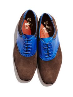 Florsheim by Duckie Brown Saddle Shoes #gilt #shoes #fashion #blue #suede #saddle