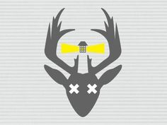 Dribbble - Deer Island Lighthouse by Todd Burton #deer #stripes #yellow #lighthouse #logo #grey