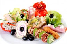 Appetizers on a Plate at Wedding
