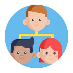 See more icon inspiration related to team, teamwork, organization, diagram, order, group, organized, hierarchical structure, collaboration, hierarchy, working, networking and business on Flaticon.