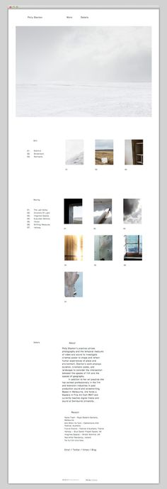 Polly Stanton #layout #website #web #web design