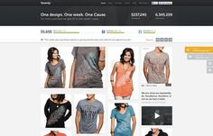 Sevenly #ecommerce #looking #homepage #nice