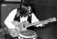 Jazz pianist Vince Guaraldi on the guitar #guitar #vince #peanuts #jazz #guaraldi #retro #blues