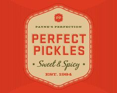 Pickles, packaging, logo #logo #branding #packaging #pickles