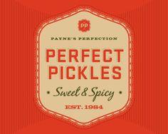 Pickles, packaging, logo