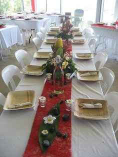 Longe Table Wedding Reception #reception #wedding #decorations
