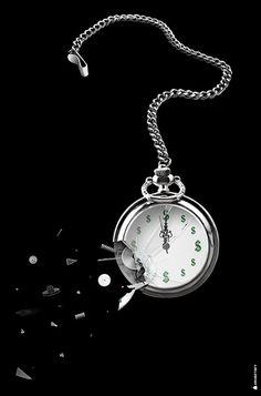 DIGITAL ART TIME IS MONEY - http://drubetsky.com/digital-art-time-is-money/  #concept art #photo manipulation #digital art