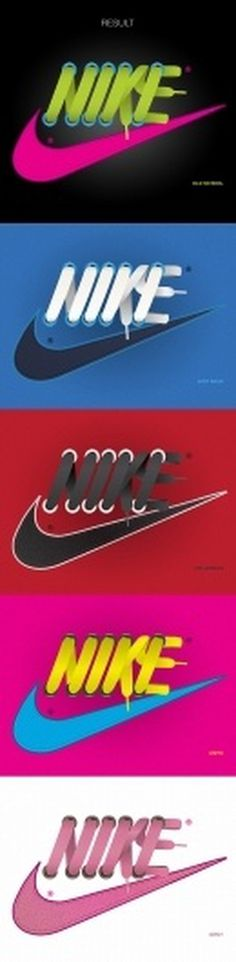 NIKE Laces on Typography Served #lettering #awesome