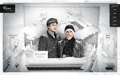 Website / Kiss by Fiona Bennett on the Behance Network #cut #photo #snow #out #website #paper #winter