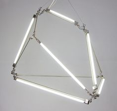 TRIANGULATION BLOG #lamp #installation #brittain #bec #light #neon