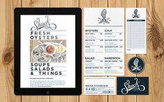 Shuck Oyster Bar #business #branding #menu #food #restaurant #system #identity #collateral #cards
