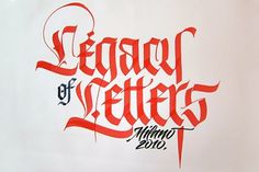 FRESHNGOOD.COM » Luca Barcellona 'Legacy Of Letters' Fraktur Writing Video